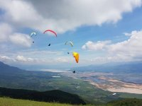 Panorama of Tapalpa from paragliding