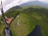 View from paragliding