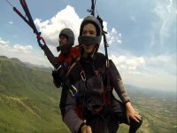 Excited paragliding