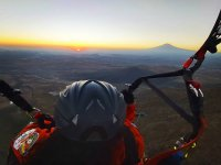 Paragliding overlooking the volcanoes