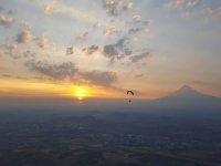 Flying at sunset in Puebla