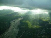 La luz traspasa las nubes