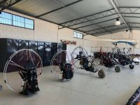 Paramotors in the warehouse