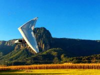 Hang gliding with the best landscape