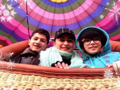 Birthday special balloon flight, Teotihuacan