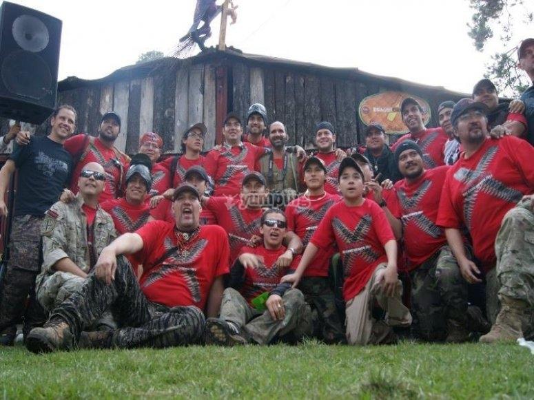 Paintball team