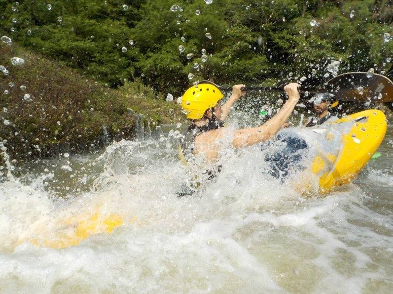 Emocion en kayak
