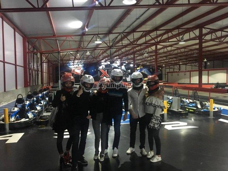 Pilotos de go karts en Puebla