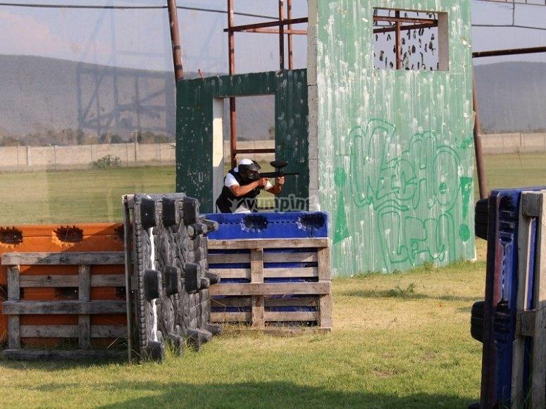 Paintball escenario in Puebla