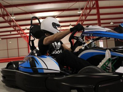Parachuting with paintball and go-karts in Puebla