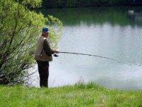 Fishing in a beautiful day