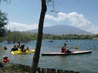 Kayak in the blue lagoon