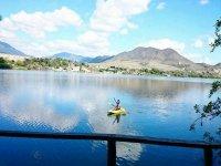 alone in the Galeana lagoon