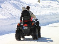 Motorcycle in winter