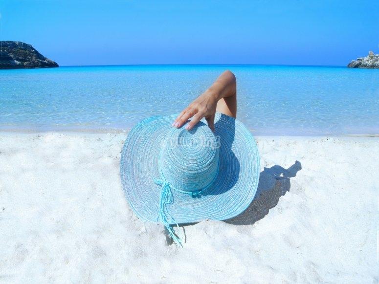 Coronado island resting at the beach