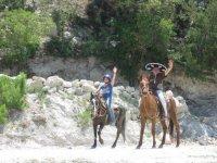 Horse ride with children