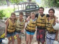 Equipo de rafting