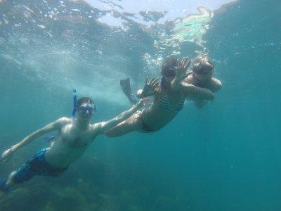 Snorkel más traslado en Huatulco