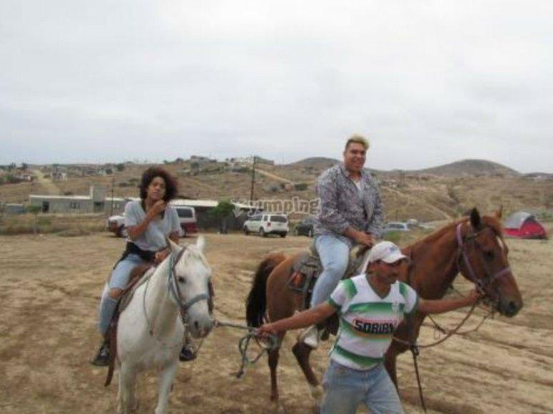 Recorrido a caballo por Rosarito
