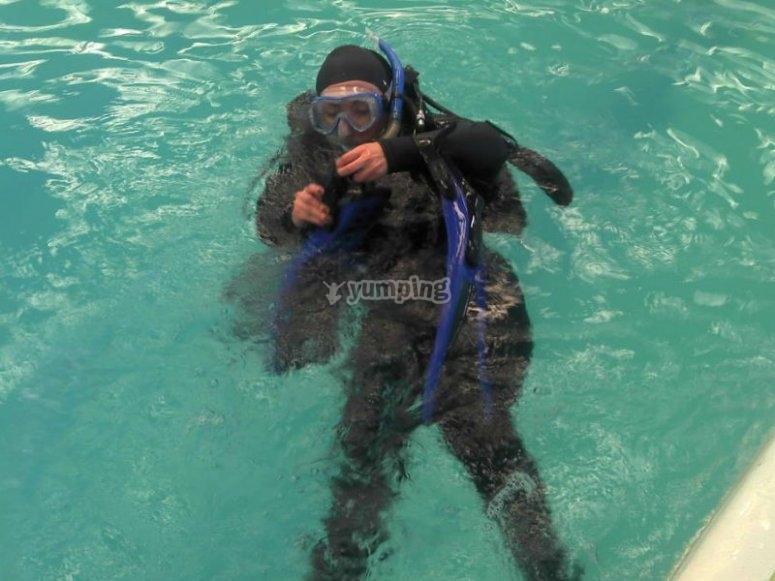 Primeras inmersiones en una alberca