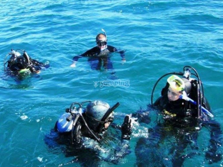 Inmersiones en aguas abiertas