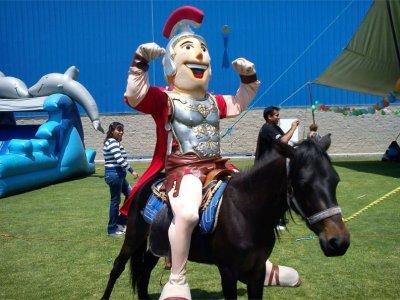 Botargas animation for children's birthday Puebla