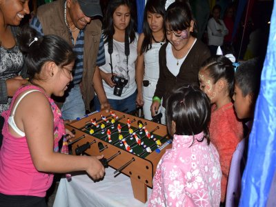 Table soccer for children's party