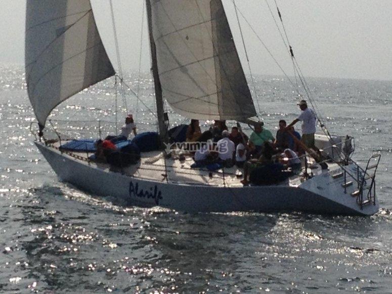 Sailing on Riviera Nayarit.