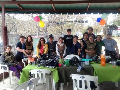 Paintball party package 20 people Mexico City