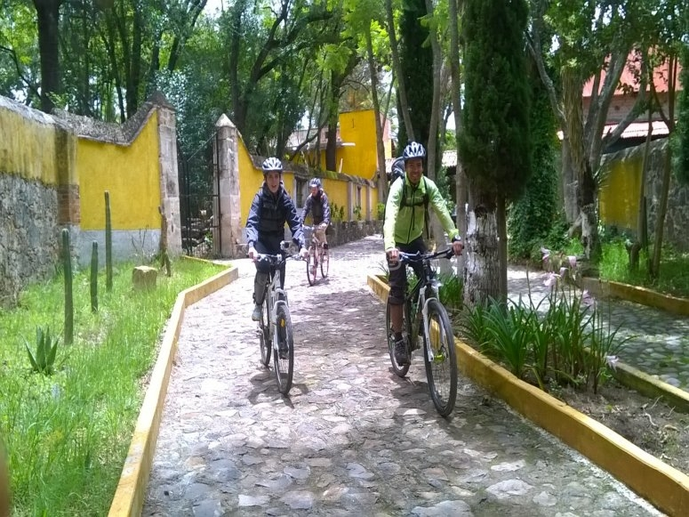 recorrido en la hacienda en bicicleta