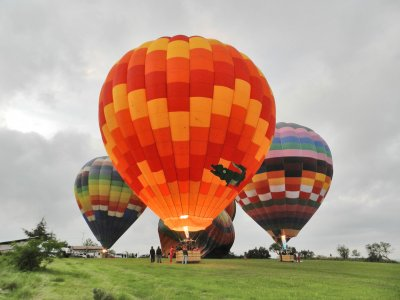Hot air-balloon flight, Teotihuacan