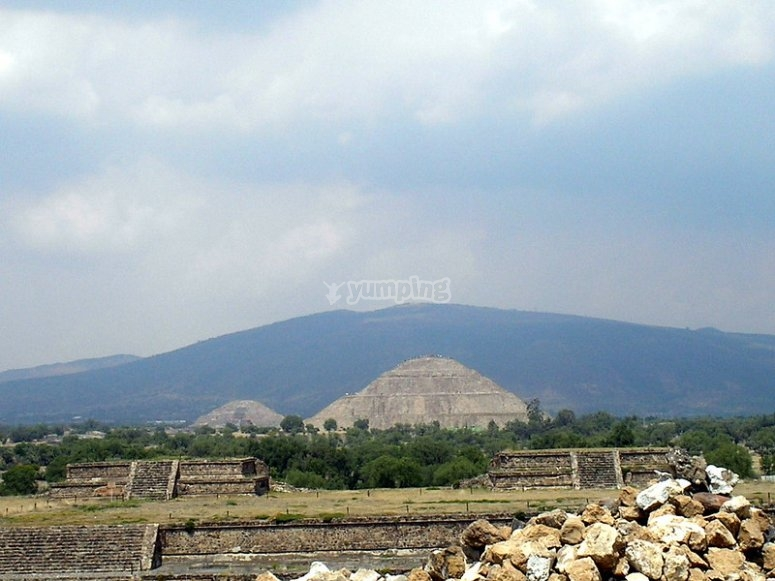 Pyramid of the sun in Teotihuacán