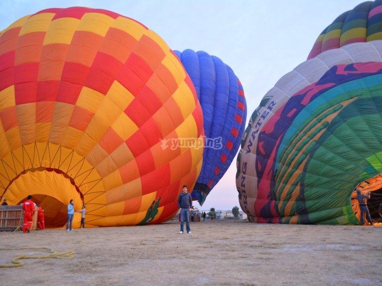 Balloon flight in Hidalgo