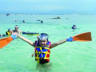 Tour Isla del Coral precio niños salida Guayabitos