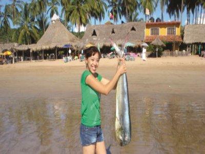 Pesca para niños Playa Platanitos desde San Blas