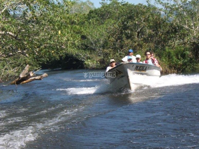 Funny boat ride