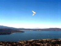 Flight over lagoon