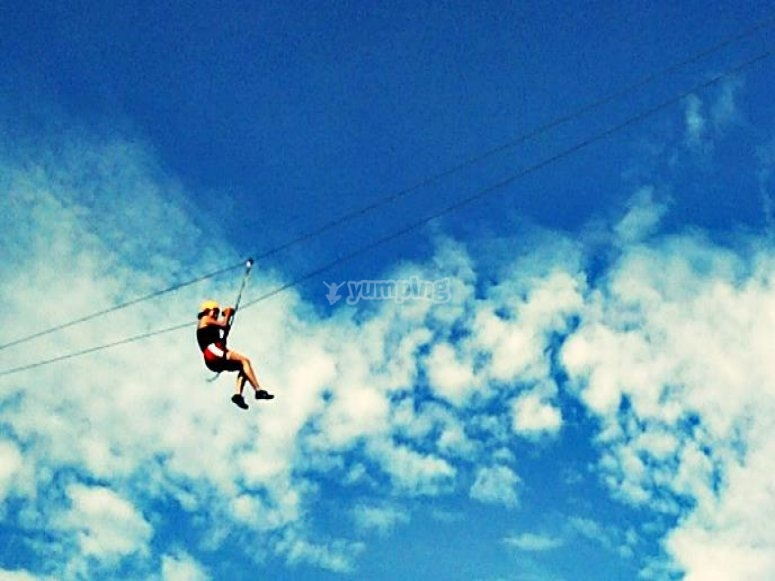 Exciting zip lining
