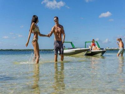 Speedboat trip and snorkel in Mayan reef 2h