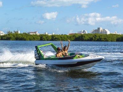 High speedboat tour in Nichupté kids 1 hour 30 min