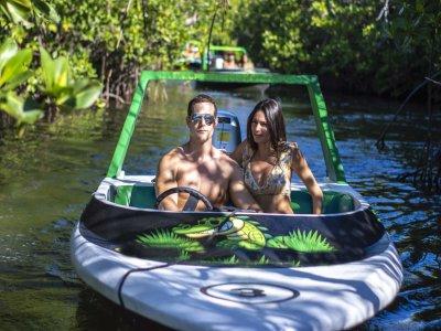 Speedboat trip in Nichupte lagoon, Cancun 45 m