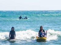 montando las olas