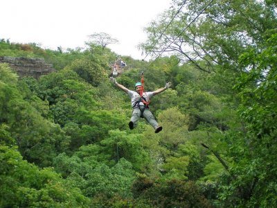 3h zip-line circuit in Bacalar