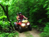 ATVs through the jungle