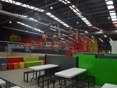 Birthday party in a trampoline park in Jalisco