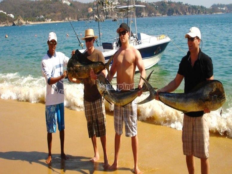 Dia de pesca en huatulco