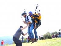 Attending the paragliding landing