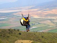 Paragliding recording the flight