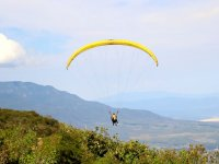 Paragliding over the valley