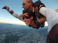 Skydiving jump in Puerto Vallarta
